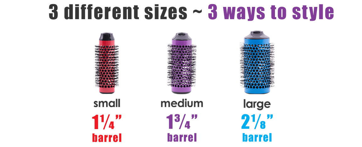 3 different sizes, 3 ways to style. Small, medium and large barrels.