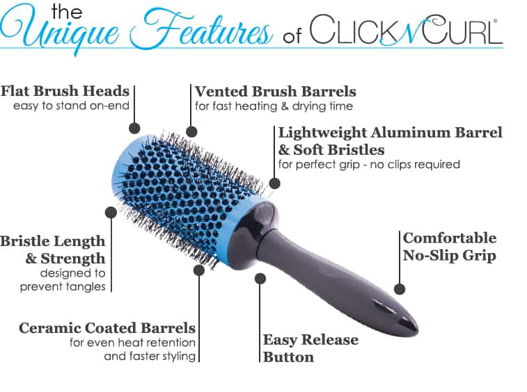 The Unique Features of the Detachable Click n Curl Hair Brush