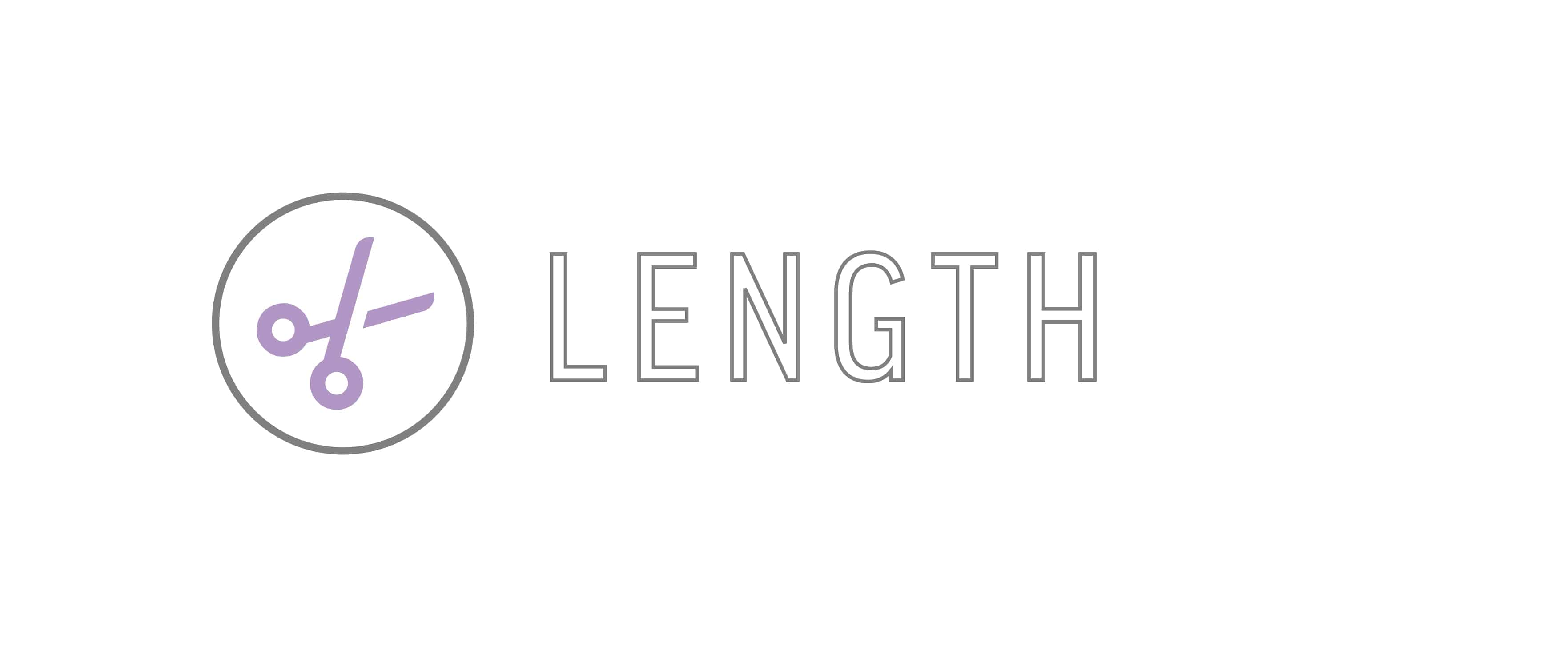 """Length"" Graphic used for Hair Goals for 50 years old blog post"