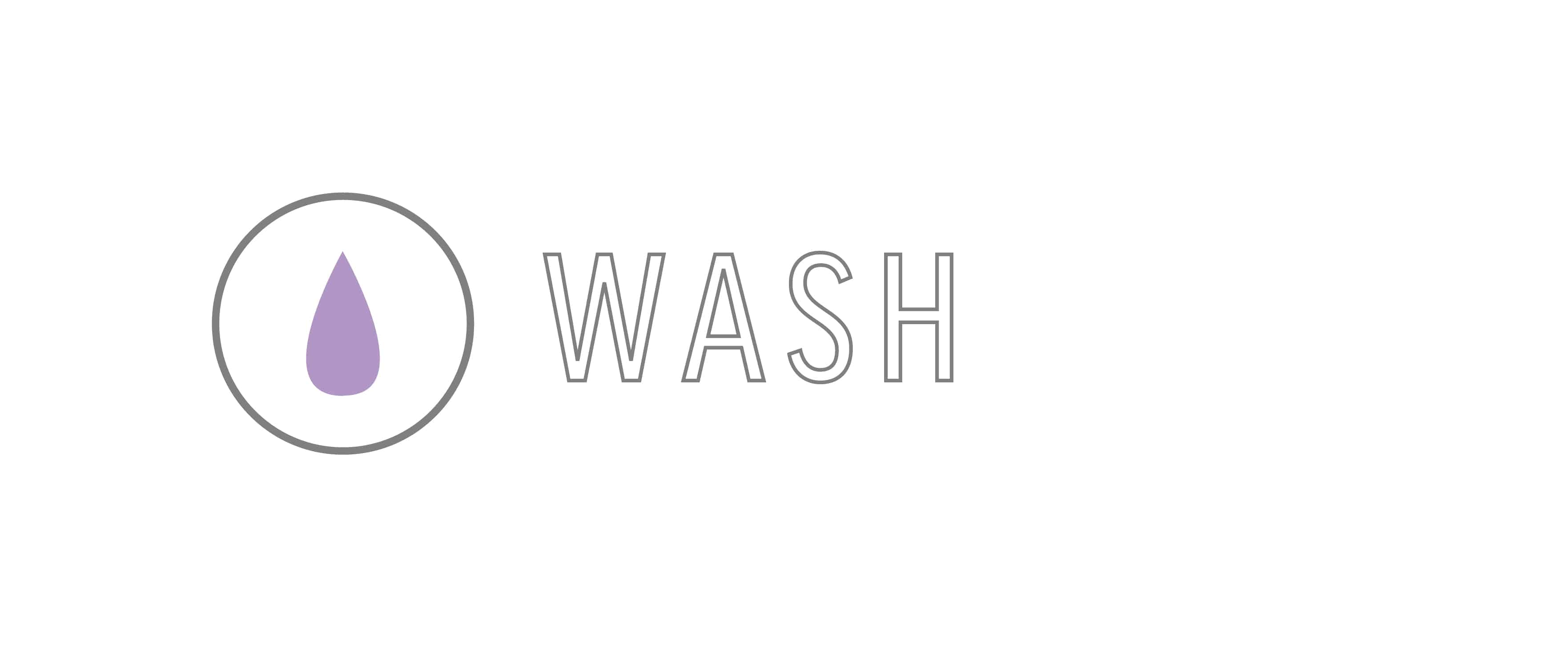 """Wash"" Graphic used for Hair Goals for 50 years old blog post"