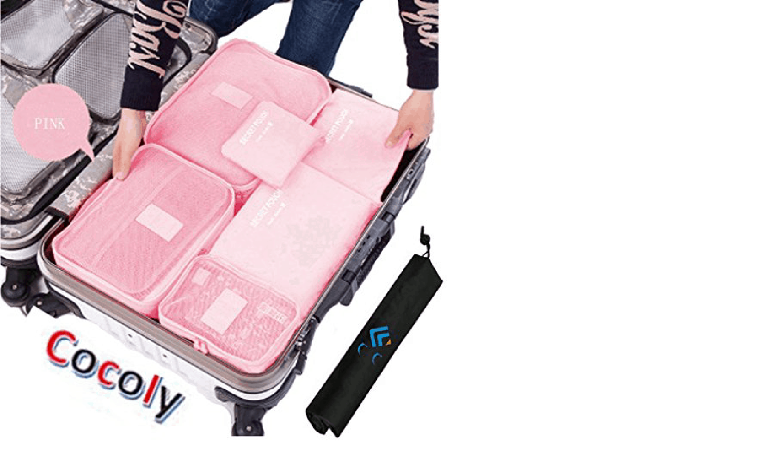 Cocoly Pink Packing Compartments