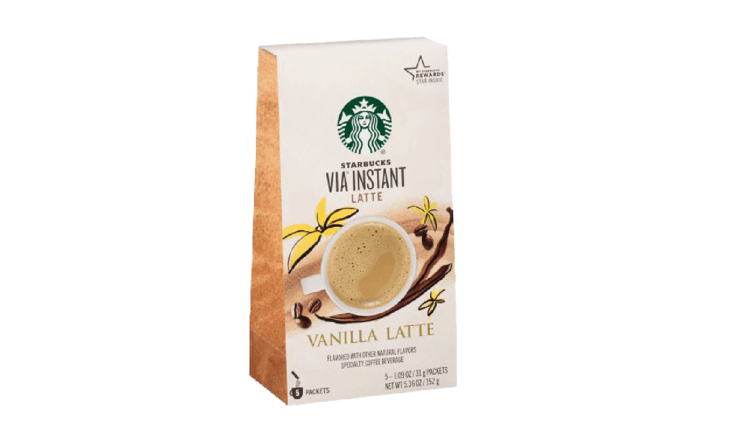 Box of Vanilla Latte Starbucks Instant
