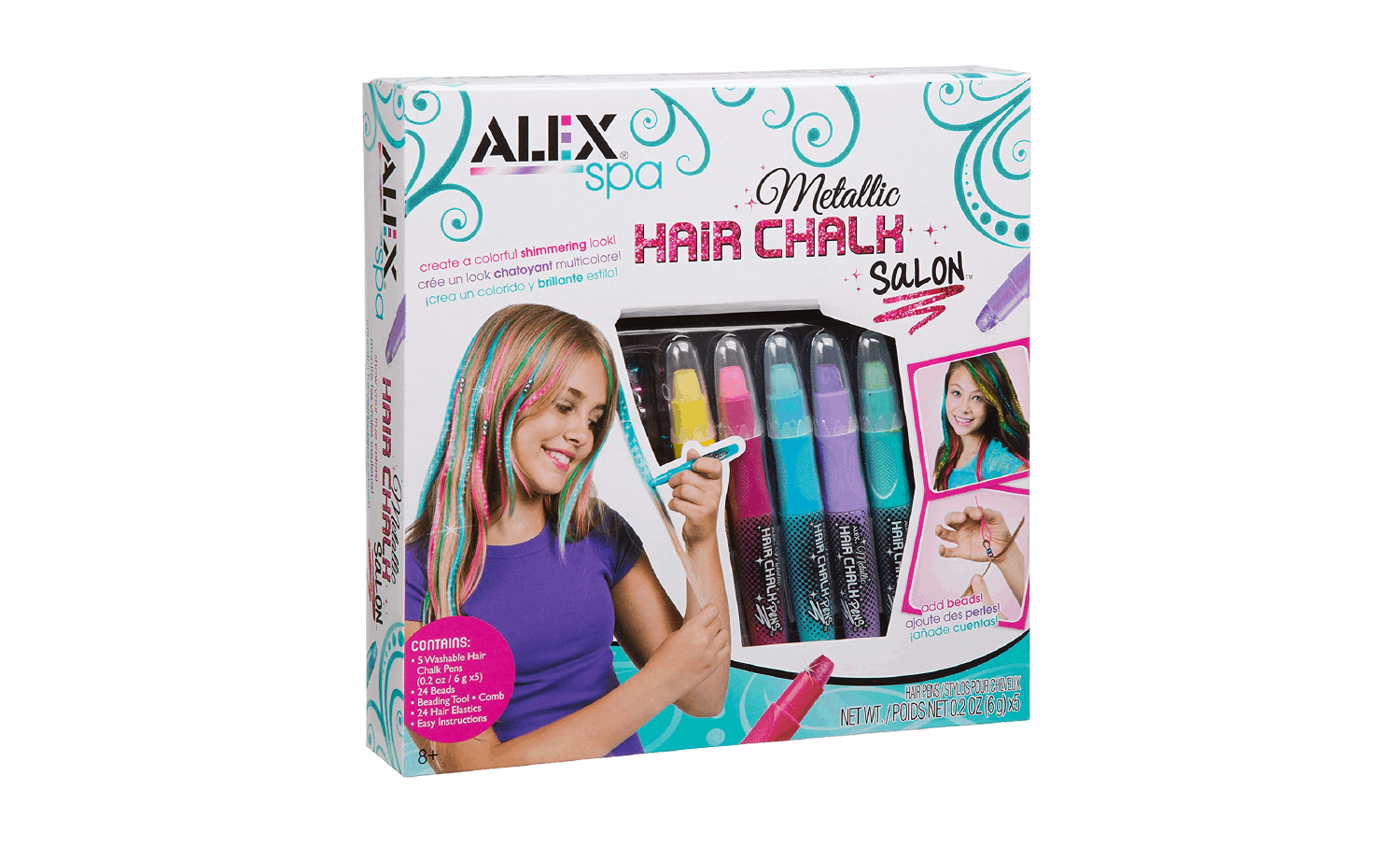 ALEXspa Metallic Hair Chalk Salon