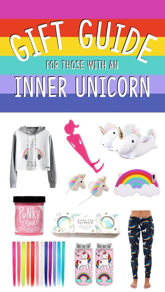 "Graphic for ""Gift Guide for those with an inner unicorn"""