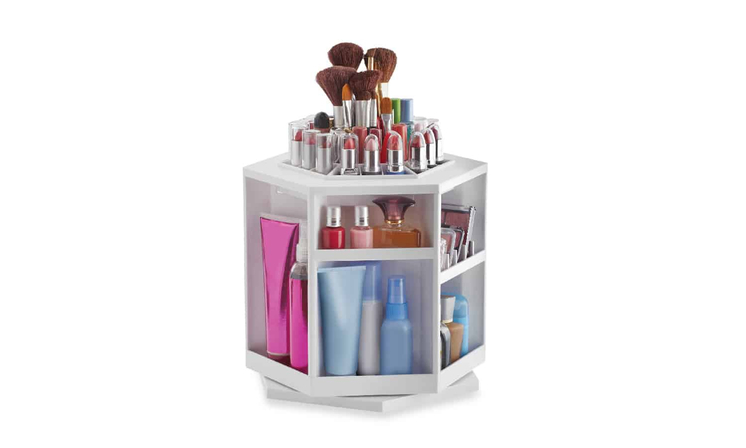 Makeup and Bathroom supplies spinning stand