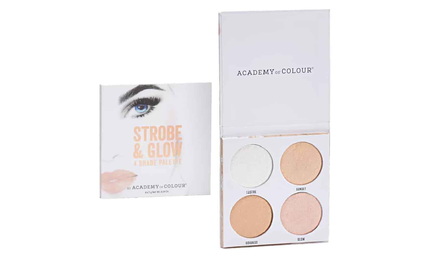 Strobe and Glow 4 Shade Palette by Academy of Colour