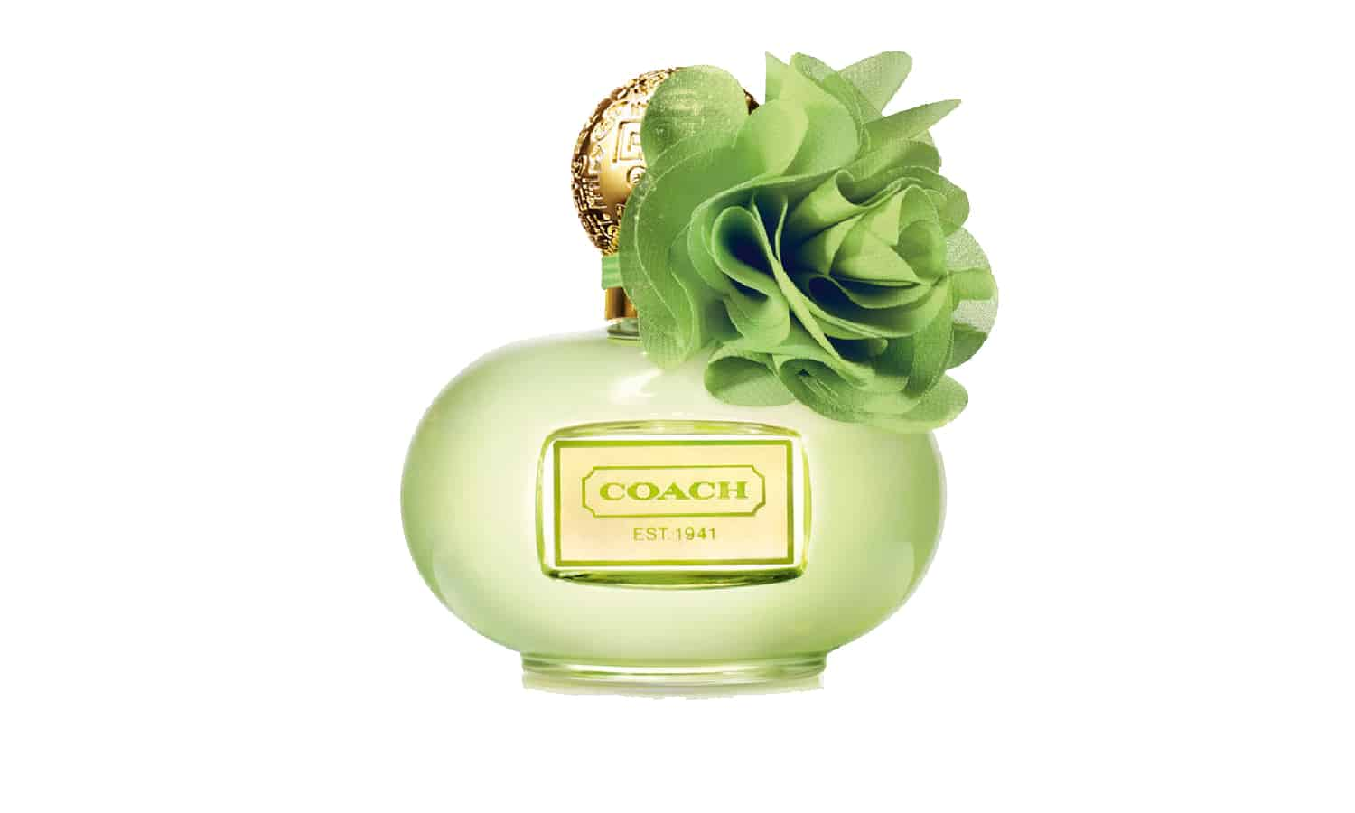 Coach Perfume in a green bottle