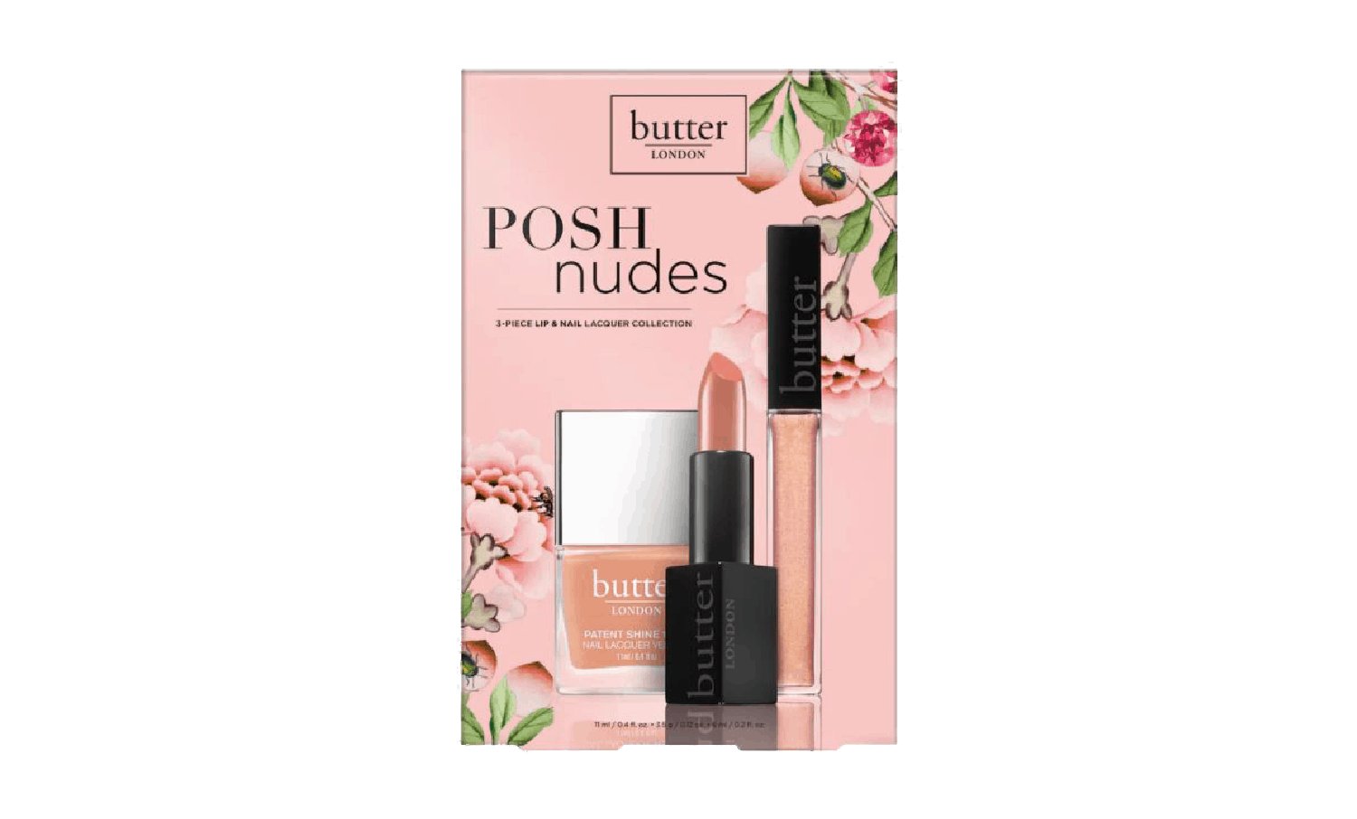 Butter Posh Nudes 3-piece Lip and Nail Collection