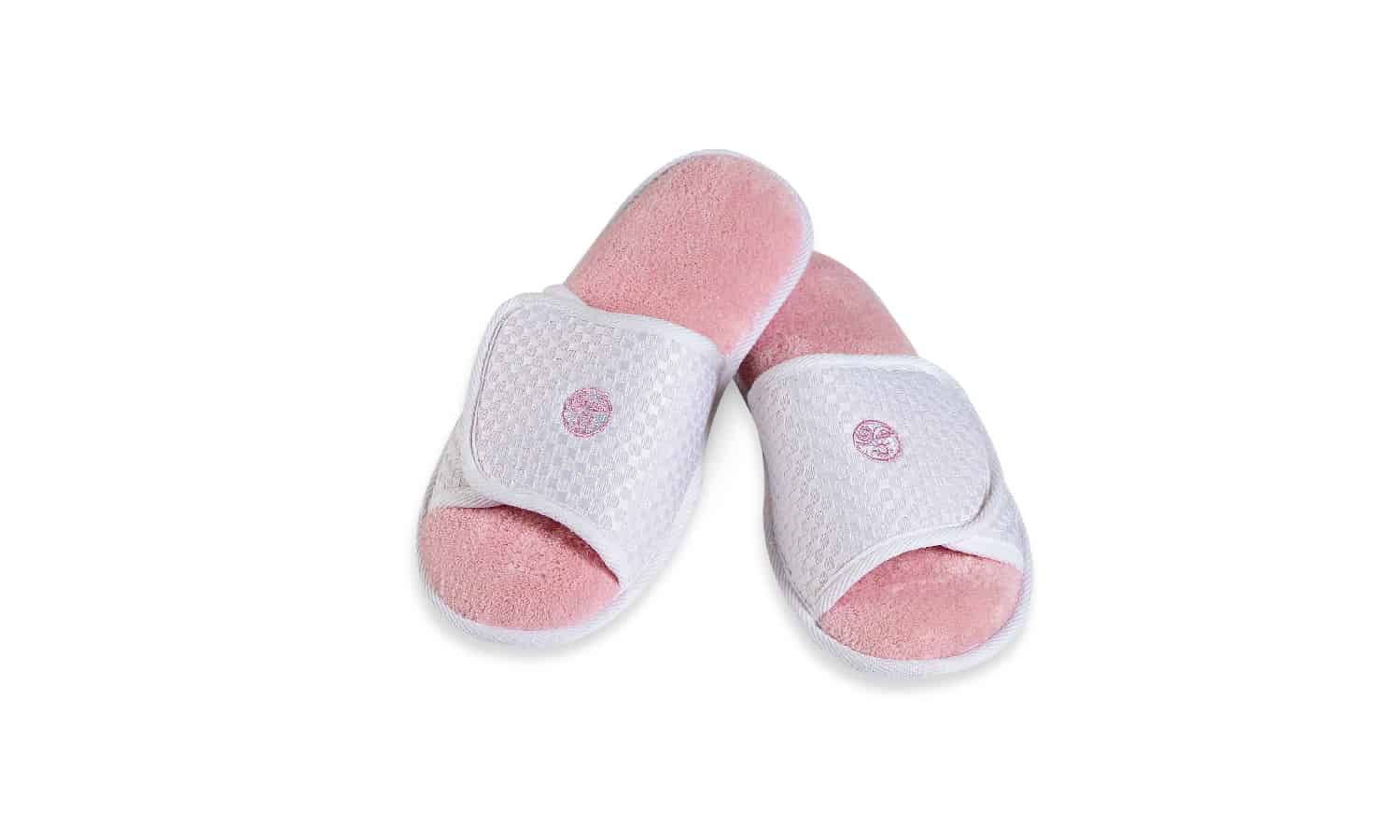 Pink and White Slippers
