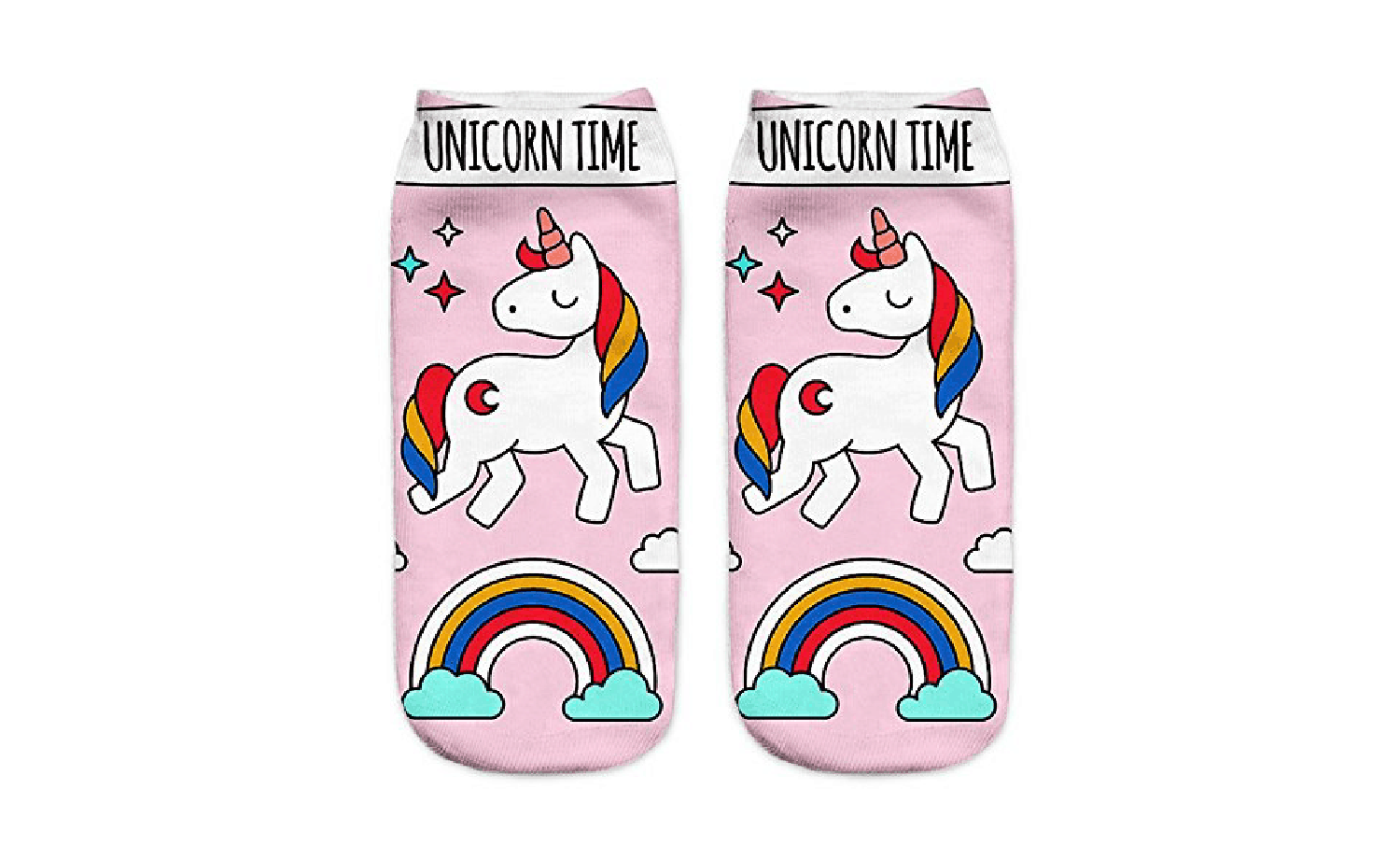 Unicorn Time Colorful Socks