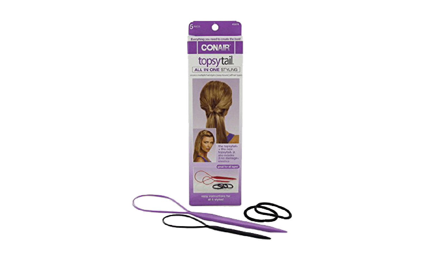 TopsyTail All in One Styling tool and hairbands